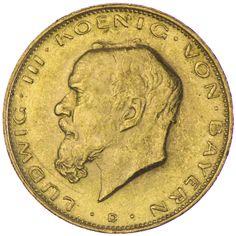 Bayern, Ludwig III. 1913 - 1918, Gold Deutsches Kaiserreich = SELTEN =