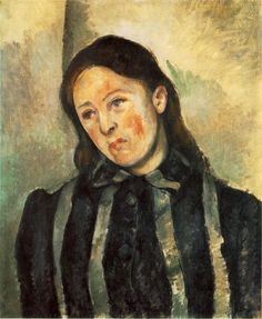"""Cezanne, portrait of his wife. The director of my graduate program once said """"Cezanne couldn't paint for shit."""" OK."""