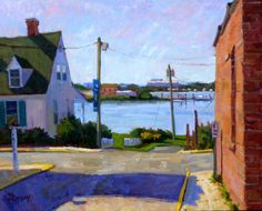 """Mike Rooney, Early Morning Light on Front St., 24"""" x 30"""""""