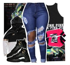 """About to go to eat "" by pinksemia ❤ liked on Polyvore featuring Victoria's Secret"