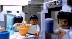 This LEGO Recreation Restages the Alien Chestburster Scene #LEGO trendhunter.com