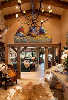 Unique Cowboy Home Decor 13 About Remodel Home Decoration For Interior Design Styles with Cowboy Hom… Southwest Home Decor, Southwestern Home, Southwestern Decorating, Cowboy Home Decor, Home Decor Near Me, Western Furniture, Western Homes, The Ranch, Country Decor