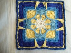Ravelry: Holiday Ornament Afghan Square pattern by Julie Yeager