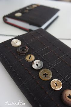 Buttons as decoration....love them on these  journals!