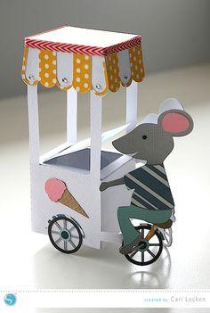 3d ice cream cart | cari locken for silhouette
