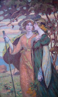 Clark Hobart Fantasy of Dreams Painting