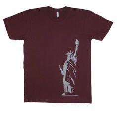 Liberty graphic print Men's Fine Jersey Short by StarHeartPinkShop, $20.00