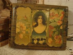 Vintage Shabby Victorian Celluloid Photo Album.