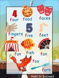 'f' words phonics poster - Free Download!