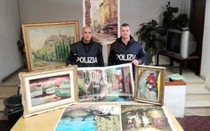 Sophisticated art thieves network uncovered at Rome airport. The gang is made up of cleaning staff and ground crew who colluded to heist   valuable paintings at Rome's Fiumicino airport