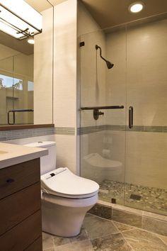 beige pebble shower - Google Search