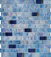 Pool Series 1x2 Blue Glass Mosaic Tile