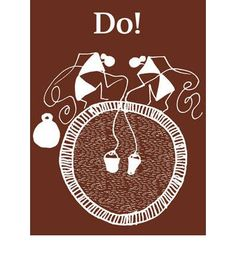 Do! is a set of action pictures, rendered in the traditional Warli style of art. It introduces basic verbs to the young reader through a series of brilliantly drawn pictograms, which both illustrate the verb, and tell a story.