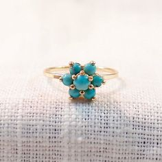 Victorian 14k Gold and Turquoise Ring by MagpieVintageJewelry