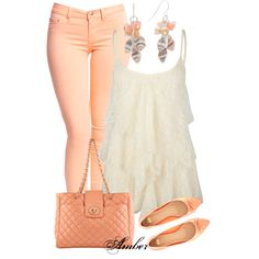 Pastel Peach by stay-at-home-mom on Polyvore