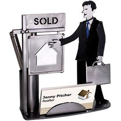 Male Real Estate Agent Business Card Holder. $45