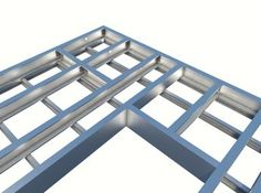 Light Gauge Steel Floor System Design in Revit® Steel Frame House, Steel House, Drywall, Steel Framing, Sips Panels, Framing Construction, Steel Deck, Tiny House Builders, Frame Light