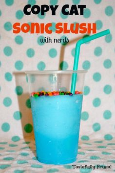 Copy Cat Sonic Slush.... with a fraction of the amount of sugar and less than $.10/cup it's a great way to beat the summer heat!