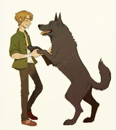I love when Sirius turns into Padfoot to cheer up Moony