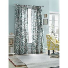 Threshold™ Farrah Lattice Window Panel perfect for shower curtain!
