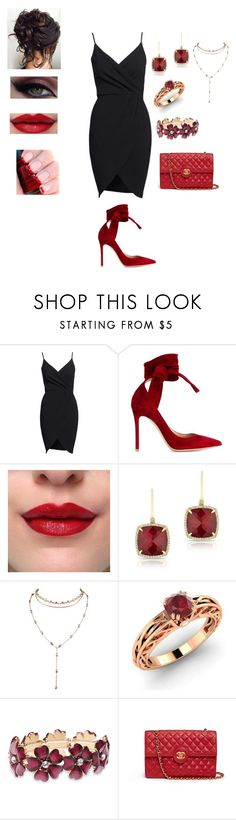 """""""Untitled #804"""" by jujuxx33 ❤ liked on Polyvore featuring Gianvito Rossi, Anne Sisteron, Diamondere, Wet Seal and Chanel"""