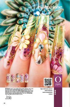 Manolo Rosas/ ProMaster Organic® Nails 3d Nails, Stiletto Nails, Pink Nails, Pretty Nail Designs, Nail Art Designs, Fancy Nails, Pretty Nails, Encapsulated Nails, Organic Nails