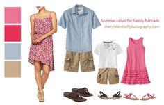 family portrait outfit ideas Summer2