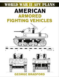 AMERICAN ARMORED FIGHTING VEHICLES by George Bradford -- Fine-scale drawings of America's tanks and other armored vehicles during World War II, including the M2 Halftrack, M3 Lee/Grant Tank, M4 Sherman Tank, LVT Amphibious Tank, and many more. Based on meticulous research, official photographs, factory specifications, and, in some cases, the original design plans, each drawing is rendered with great precision and in exact scale, offering military enthusiasts and modelers an essential…