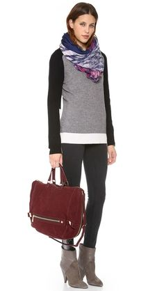 How to: fall's red purse. Botkier Honore Hobo.