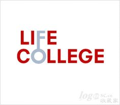 Life College Logo - simple but effective use of don't and colour to ad a sense of connection to the design