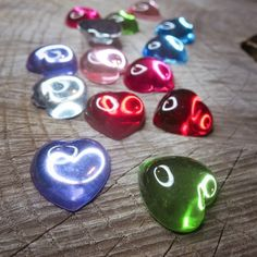 a rainbow of colour with these Smooth Hearts Applique  #craft365.com
