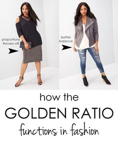 How the Golden Mean (or Golden Ratio) impacts your proportions and fashion choices