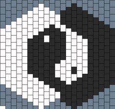 yin yang mask dos bead pattern