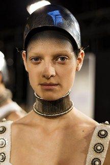 Alexander McQueen: Hair & Make-Up Spring Summer 2014 (Vogue.com UK)