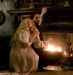 Crimson Peak - I love how they both look terrified when Thomas is meant to have lived in that house all his life