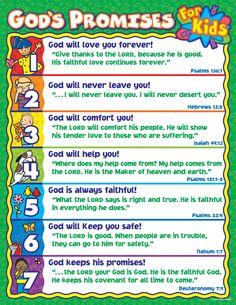List Bible Promises | Publishing | Christian Education | General Chartlets | God's Promises ...
