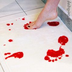 bath mat that turns red when wet.  I think this would be a great thing to buy and not tell your roomate about.