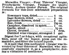 Four Thieves Vinegar Recipe
