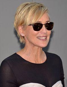 Sharon Stone-Daring Celebrities with Dramatic Haircuts-short