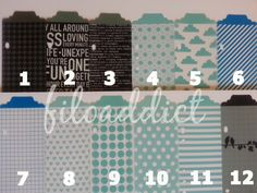 Planner Page Marker  Filofax Day Timer Franklin by filoaddict, $2.50 - hearts, clouds & camera's