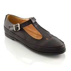 25d520cce2b WOMENS FLAT CUT OUT MARY JANE LADIES GEEK T BAR SCHOOL OFFICE PUMPS SHOES  SIZE 3 4 5 6 7 8  Amazon.co.uk  Shoes   Bags