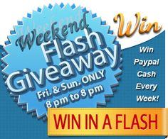 PayPal Weekend Flash Cash Giveaway ~ ends 4/8 9pmEST