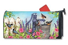 Mailbox Covers  Birds of Spring Large MailWraps Magnetic Mailbox Cover