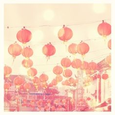Cotton Candy Colored Chinese Lanterns