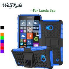 Case 대한 lumia 640 커버 부드러운 실리콘 하드 플라스틱 갑옷 case 대한 microsoft lumia 640 case nokia 640 전화 홀더 스탠드 카파 # <