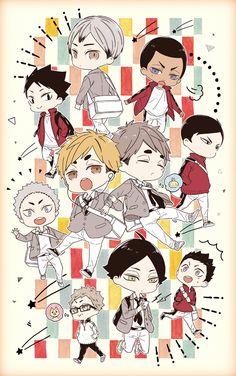 Haikyuu Manga, Haikyuu Funny, Haikyuu Fanart, Anime Chibi, Kawaii Chibi, Manga Anime, Anime Art, Haikyuu Wallpaper, Cute Anime Wallpaper