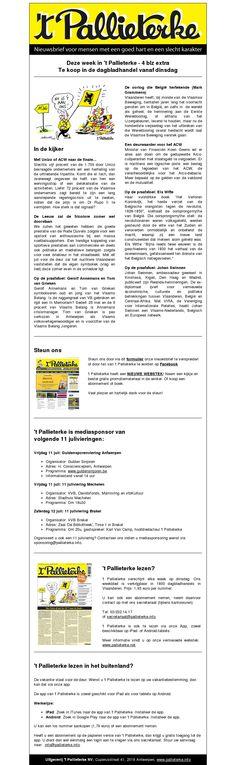 't Pallieterke nr 28 van 9 juli 2014