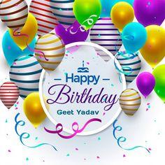 Birthday Card Facebook Birthday Wishes, Birthday Wishes Greeting Cards, Birthday Wishes With Name, Birthday Wishes Cake, Happy Birthday Flower, Happy Birthday Name, Happy Birthday Pictures, Happy Birthday Balloons, Happy Birthday Messages