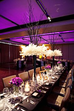 love the floral centrepieces