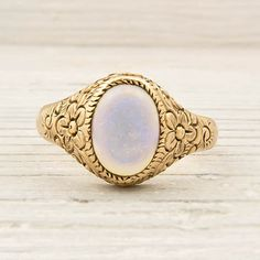 Antique Gold Victorian Opal Ring #etsy